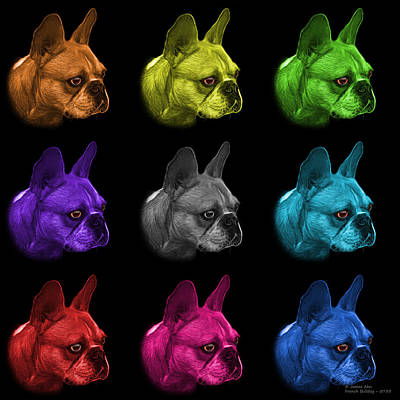 Painting - Mosiac French Bulldog Pop Art - 0755 Bb - M by James Ahn
