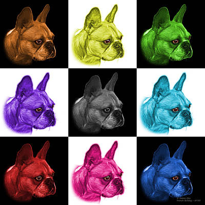 Painting - Mosiac French Bulldog Pop Art - 0755 V1 - M by James Ahn