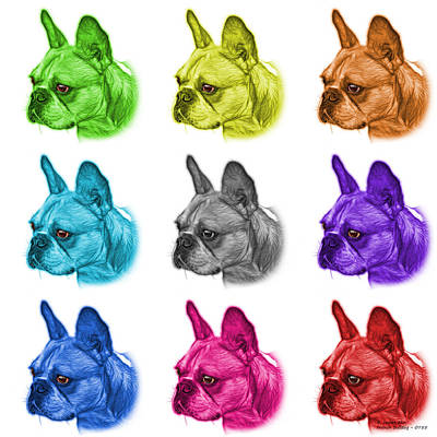 Painting - Mosiac French Bulldog Pop Art - 0755 Wb - M by James Ahn