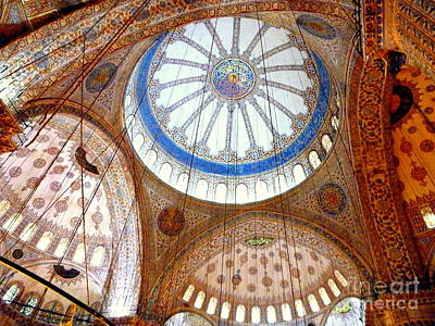 Photograph - Mosque Ceiling by John Potts
