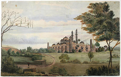Religious Drawings Photograph - Mosque Champaneer by British Library