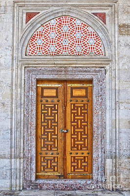 Religious Photograph - Mosque Doors 04 by Antony McAulay