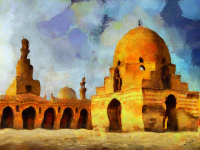 Dance Painting - Mosque Ibn Tulun by George Rossidis