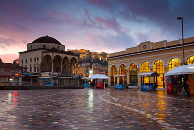 Monastiraki Photograph - Mosque In Monastiraki Square by Milan Gonda