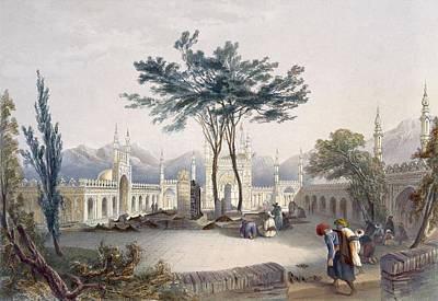 Temple Drawing - Mosque Of Goolaum Hoossein Huzrut-jee by James Rattray
