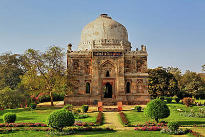 Lodi Photograph - Mosque Of Sheesh Gumbad, Lodhi Gardens by Adam Jones