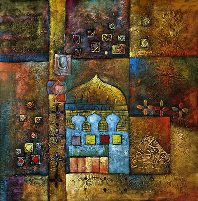 Muslims Of The World Painting - Mosques by Almasri