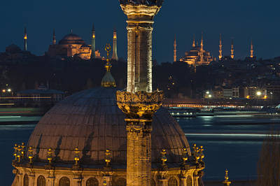 Mosques In Istanbul Art Print by Ayhan Altun