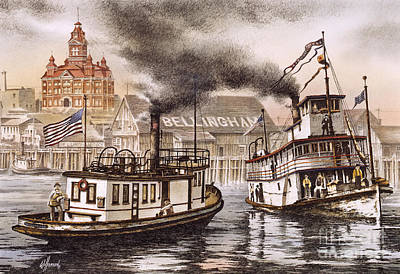 Mosquito Fleet Steamboats Art Print