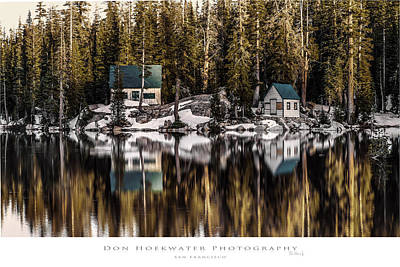 Mosquito Lake Huts Art Print by PhotoWorks By Don Hoekwater