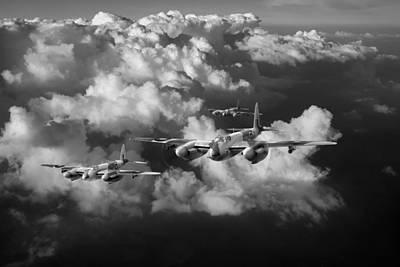 Photograph - Mosquitos Above Clouds Black And White Version by Gary Eason