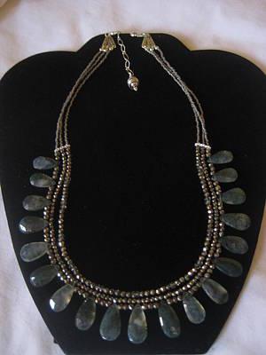 Smokey Quartz Jewelry - Moss Agate Necklace by Jan Durand