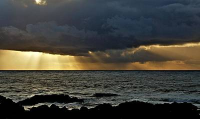 Photograph - Moss Beach Sunset Storm by Elery Oxford