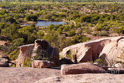 Photograph - Moss Lake Overlook From Little Rock - Enchanted Rock Texas Hill Country by Silvio Ligutti