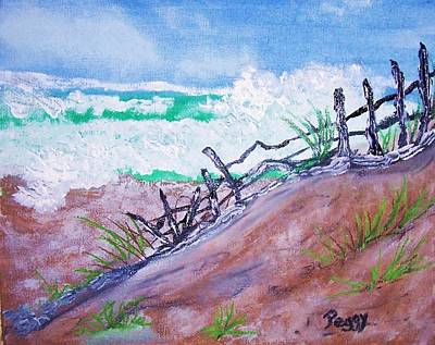 Moss Landing Beach Art Print by Peggy Leyva Conley