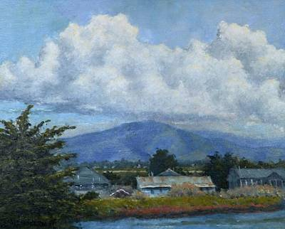 Painting - Moss Landing Clouds by Marv Anderson