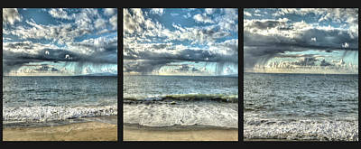 Photograph - Moss Landing In The Clouds Triptych by SC Heffner
