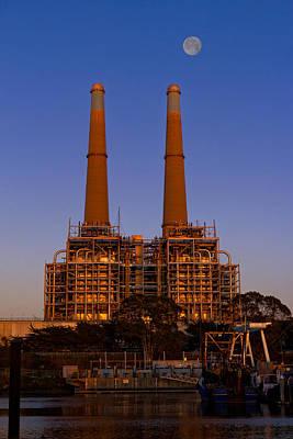 Moss Landing Photograph - Moss Landing Power Plant by Kathleen Bishop
