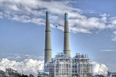 Photograph - Moss Landing Power Plant  Monterey County  by SC Heffner