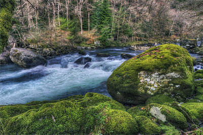 North Wales Photograph - Moss Rock River by Ian Mitchell