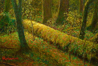Painting - Moss by Terry Perham