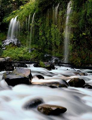 Waterfall Photograph - Mossbrae Falls In California by Jetson Nguyen
