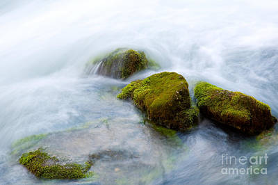Alley Spring Photograph - Mossy Rocks by Steve Stuller