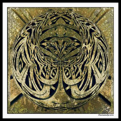 Digital Art - Mossy Sphere  by Charmaine Zoe