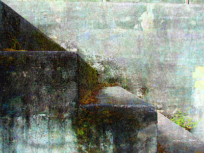 Photograph - Mossy Steps Of Fort Worden - Port Townsend - Washington by Marie Jamieson