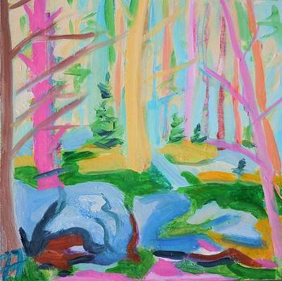 Painting - Mossy Woods by Francine Frank
