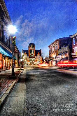 Most Beautiful Small Town In America At Christmas Art Print by Darren Fisher