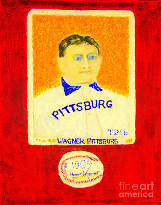 Cal Ripken Painting - Most Expensive Baseball Card Honus Wagner T206 2 by Richard W Linford