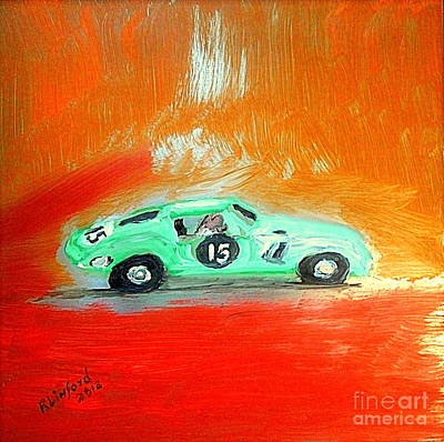 Painting - Most Expensive Car 1962 Ferrari 250 Gto  by Richard W Linford