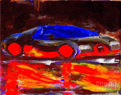 Painting - Most Expensive Fastest Car Bugatti Veyron Super Sport 1 by Richard W Linford