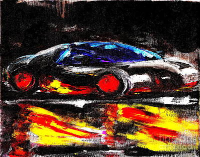 Painting - Most Expensive Fastest Car Bugatti Veyron Super Sport 3 by Richard W Linford