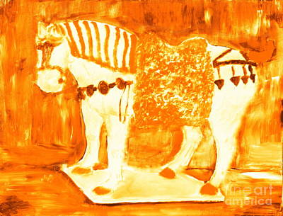 Painting - Most Expensive Tang Horse Porcelain 4 by Richard W Linford