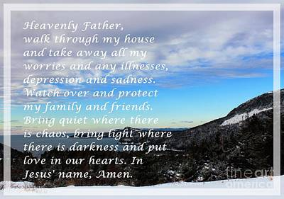 Most Powerful Prayer With Winter Scene Art Print by Barbara Griffin