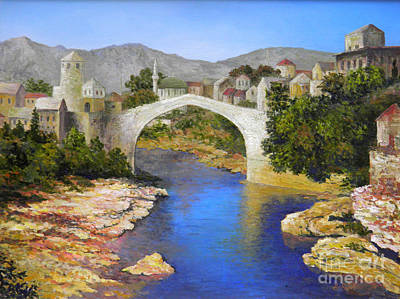 Painting - Mostar Bridge by Lou Ann Bagnall
