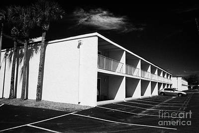 Mostly Empty Cheap Budget Motel In Kissimmee Florida Usa Print by Joe Fox