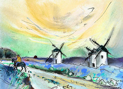 Don Quijote Painting - Mota Del Cuervo 07 by Miki De Goodaboom