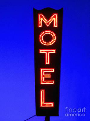 Neon Sign Photograph - Motel by Diane Diederich
