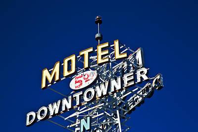 Motel Downtowner Art Print
