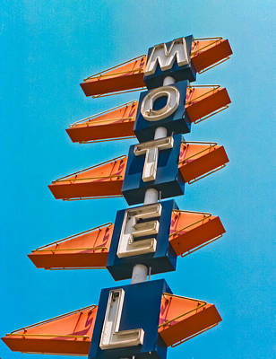 Motel Large Art Print by Matthew Bamberg