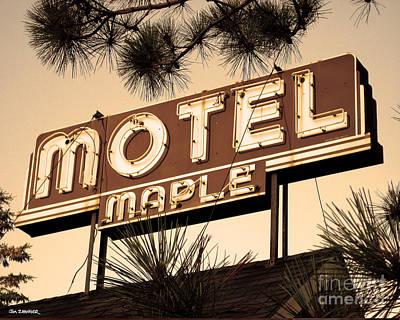 Motel Digital Art - Motel Maple by Jim Zahniser