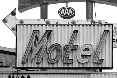 Photograph - Motel Neon Sign by Daniel Woodrum