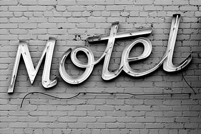 Photograph - Motel Neon Sign No.2 by Daniel Woodrum