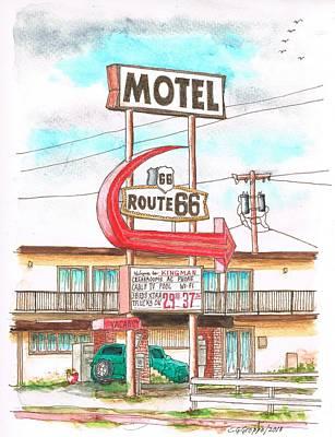 Motel Route 66 In Route 66, Andy Devine Ave., Kingman, Arizona Art Print