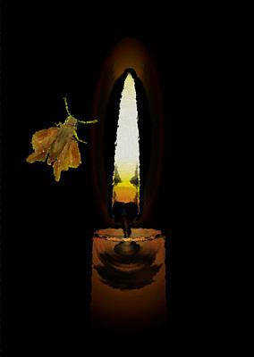 Photograph - Moth To Flame by Manjot Singh Sachdeva