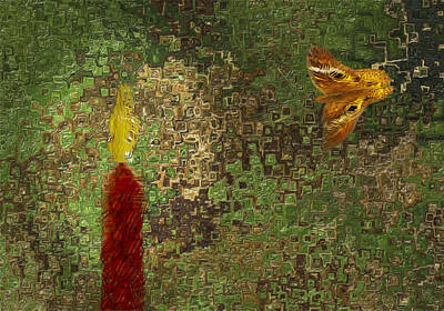 Social Movements Digital Art - Moth To The Flame by Jack Zulli
