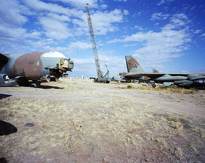 Photograph - Mothballed B-52gs by Jan W Faul